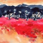 landschaft rot ocker