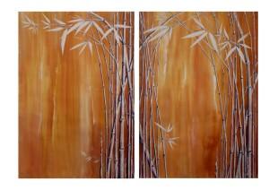 bambus diptychon (braun) x